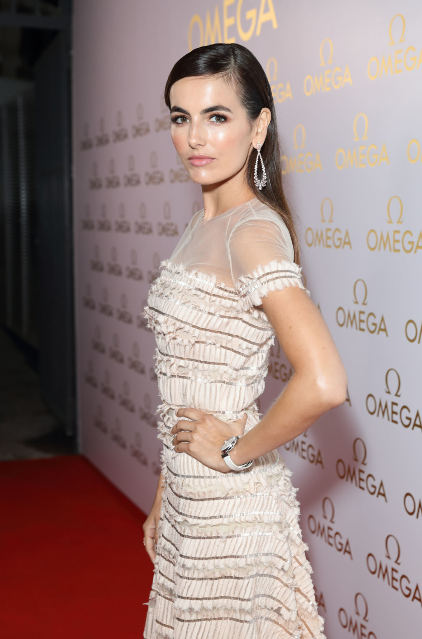 RIO DE JANEIRO, BRAZIL - AUGUST 06:  Camilla Belle attends the launch of OMEGA House Rio 2016 on August 6, 2016 in Rio de Janeiro, Brazil.  (Photo by Mike Marsland/Mike Marsland/WireImage for Omega) *** Local Caption *** Camilla Belle
