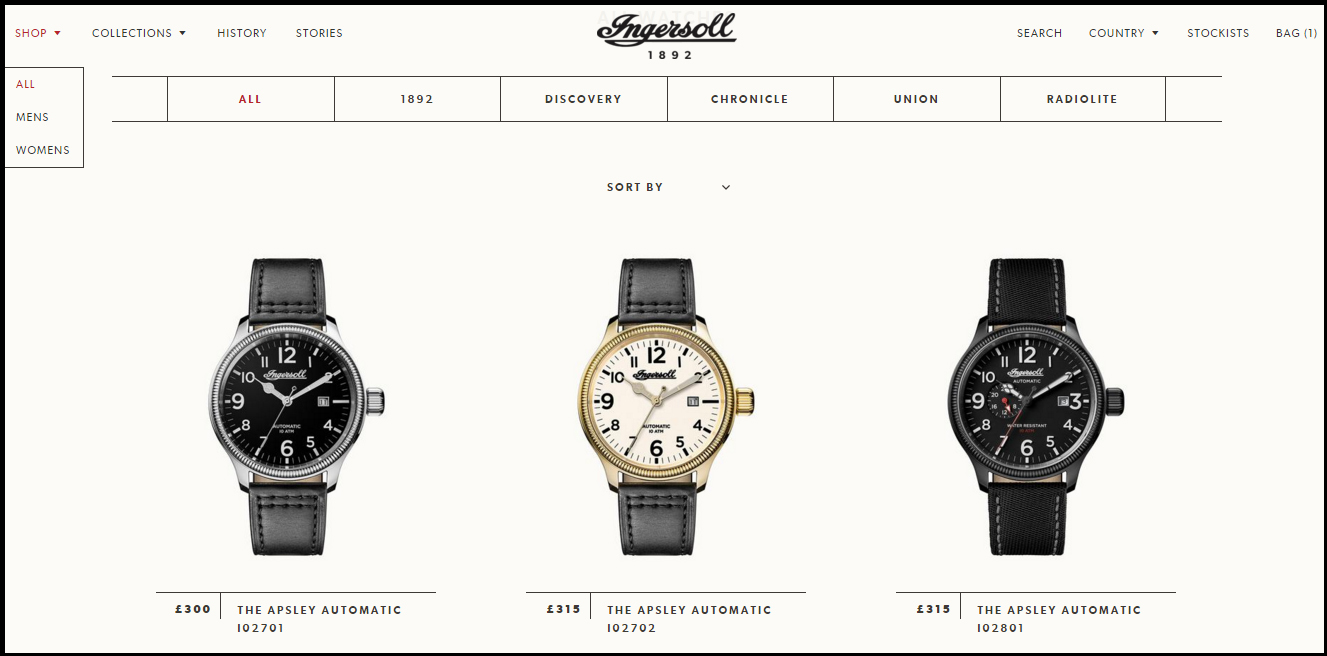 Zeon will sell and ship Ingersoll watches directly to consumers via its new website.