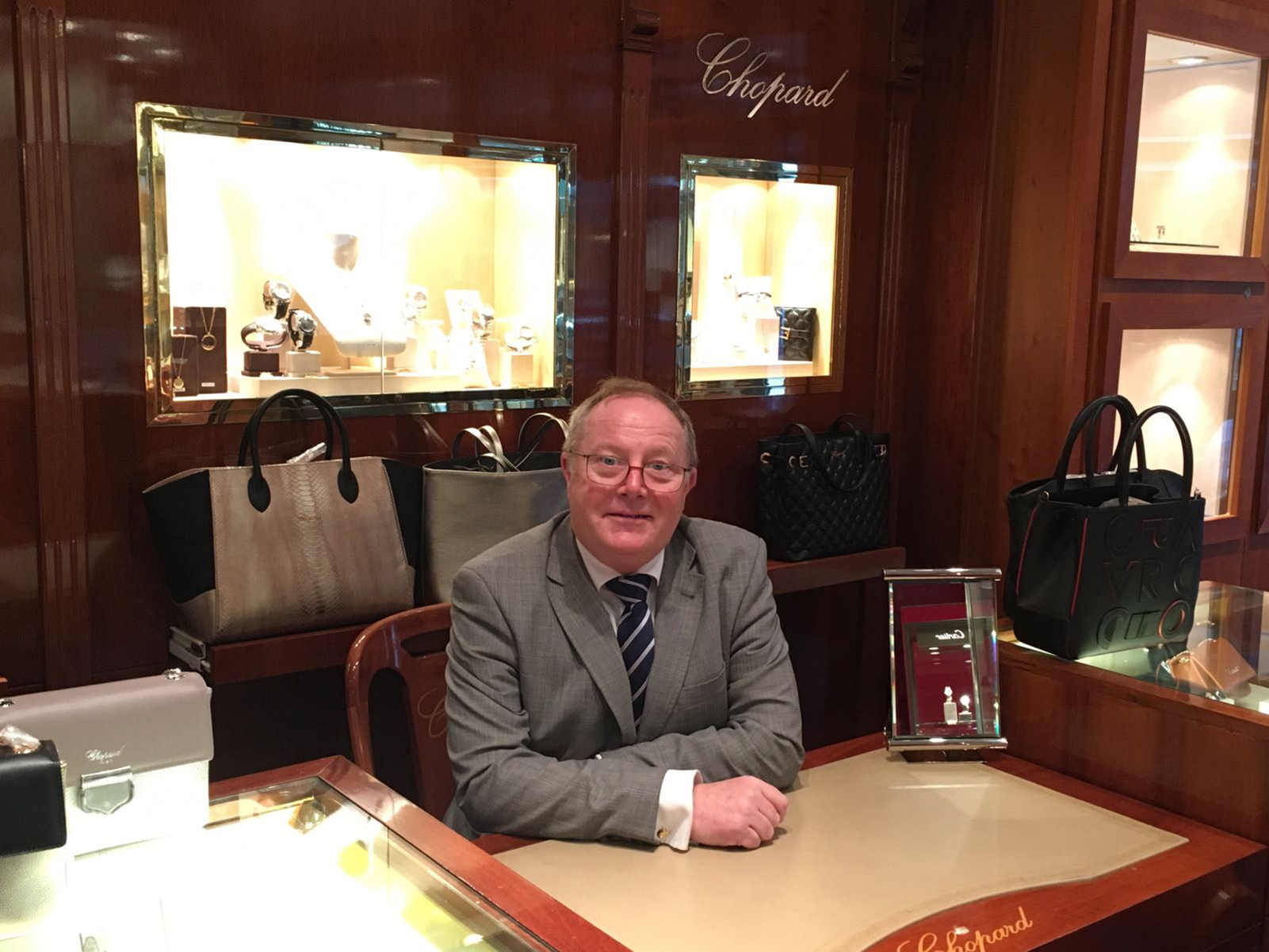 Peter Harrington is a familiar face to watch collectors in Wilmslow.