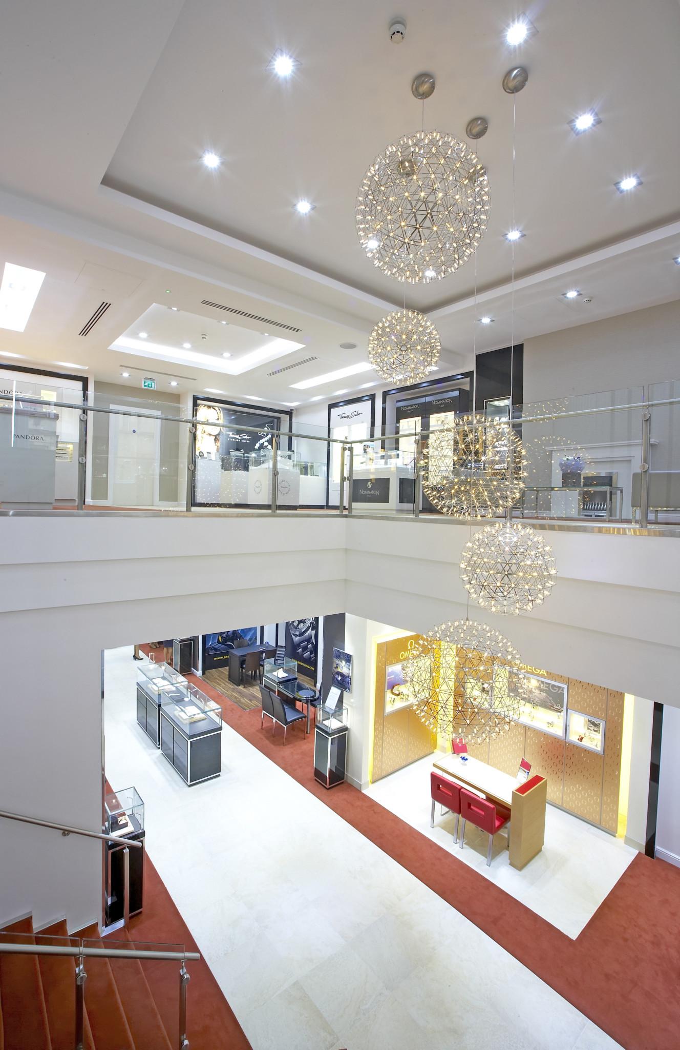 The impressive two-storey Hugh Rice boutique in Harrogate.