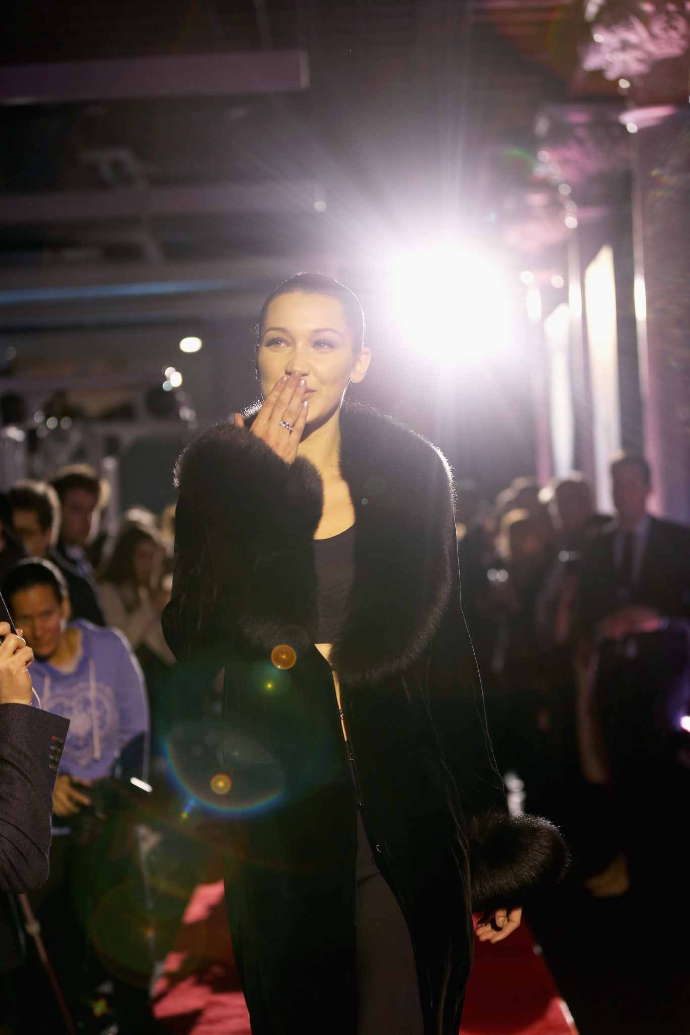 NEW YORK, NY - FEBRUARY 13: Bella Hadid attends A Fresh New Face For TAG Heuer at Equinox Bond Street on February 13, 2017 in New York City.  (Photo by Bennett Raglin/Getty Images for TAG Heuer)