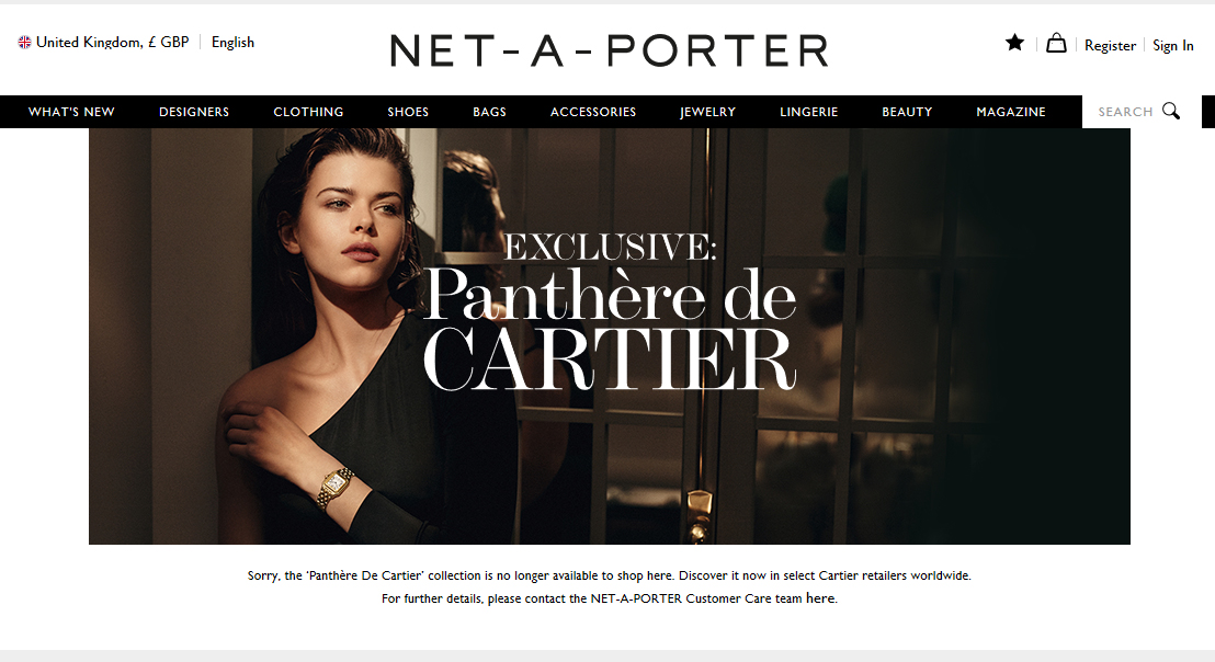 Net-a-Porter Cartier