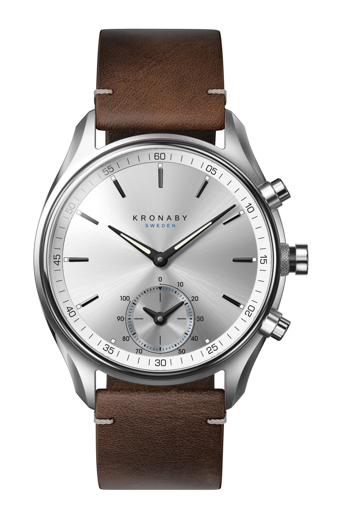 SEKEL is a homage to the art of traditional watchmaking, Kronaby's SEKEL is designed to epitomise the age-old qualities of genuine craftsmanship and analogue precision. It has a case size of 43mm and comes in nine different variants with 22mm and 18mm bracelets in stainless steel or leather.