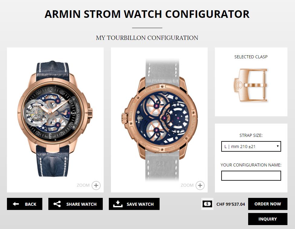 WatchPro created this Armin Strom Tourbillon.