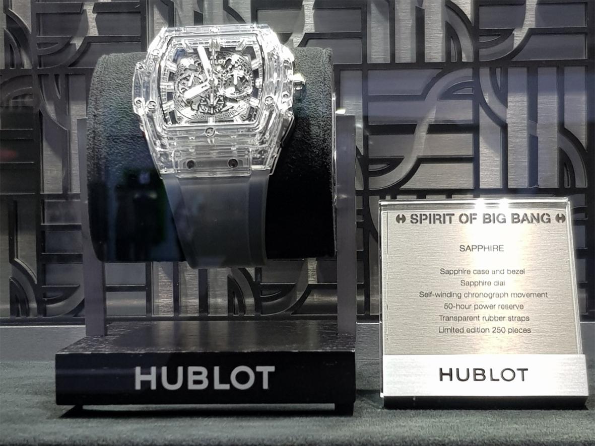 hublot at Harrods Big Bang Sapphire